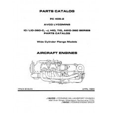 Lycoming IO,LIO-360-C,J,HIO,TIO,AEIO-360 Series WCF Models PC-406-2B Parts Catalog 1983