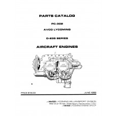 Lycoming O-235 Series Aircraft Engine PC-302 Parts Manual 1982 - 1992
