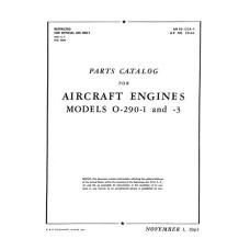 Lycoming O-290-1 and 3 Aircraft Engines Parts Manual
