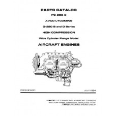 Lycoming O-320 B and D Series Aircraft Engines PC-203-2 Parts Manual 1984 1985