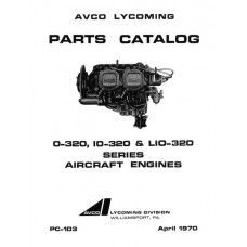 Lycoming O-320, IO-320, LIO-320 Series PC-103 Aircraft Engines Parts Catalog 1970