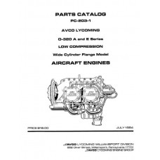 Lycoming O-320A and E Series Low Compression WCF Model PC-203-1 Parts Catalog 1984