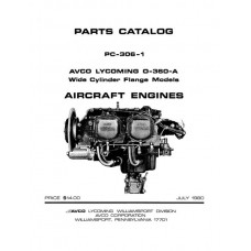 Lycoming O-360-A WCF Aircraft Engines PC-306-1 Parts Catalog 1980