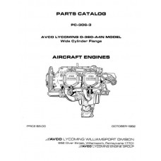 Lycoming O-360-A4N Model WCF Aircraft Engines PC-306-3 Parts Catalog 1982