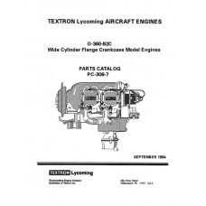 Lycoming O-360-B2C WCFC Model Aircraft Engines PC-306-7 Parts Catalog 1994