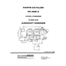 Lycoming O-360-C1G Aircraft Engines PC-306-4 Parts Catalog 1987