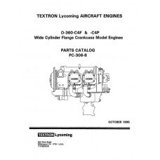 Lycoming O-360-C4F and C4P WCFC Model Aircraft Engines PC-306-8 Parts Catalog 1995