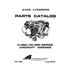 Lycoming O-360, HO-360 Series Aircraft Engines PC-106 Parts Manual 1970