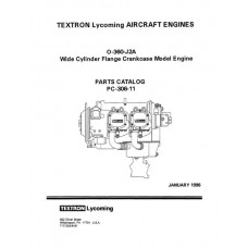 Lycoming O-360-J2A WCFC Model Aircraft Engines PC-306-11 Parts Catalog 1996