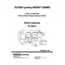Lycoming O-360, LO-360-A1H6 WCFC Model Aircraft Engines PC-306-5 Parts Catalog 1989