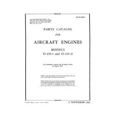 Lycoming O-435-1 and O-435-11 Aircraft Engines Parts Manual 1945
