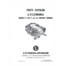 Lycoming O-435-A and O-435-A2 Aircraft Engines Parts Manual