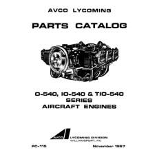 Lycoming O-540, IO-540 and TIO-540 Series PC-115-3 Aircraft Engines Parts Manual