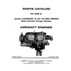 Lycoming O, LO, TO-360 Series WCF Aircraft Engines PC-306-2 Parts Catalog 1981