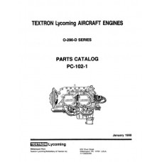 Lycoming O-290-D Series Aircraft Engine PC-102-1 Parts Manual 1988 - 1991