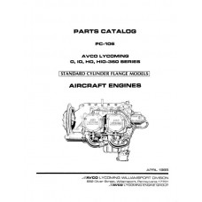 Lycoming O, IO, HO, HIO-360 Series Aircraft Engine PC-106 Parts Manual 1985