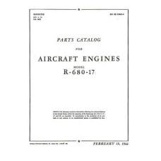 Lycoming R-680-17 Aircraft Engines Parts Manual 1944