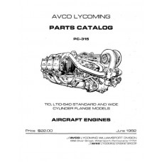 Lycoming TIO, LTIO-540 Standard and Wide Cylinder Flanges Models PC-315 Parts Catalog 1982