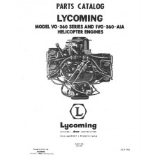 Lycoming VO-360 Series IVO-360-AIA Helicopter Engines PC-107 Parts Manual 1963