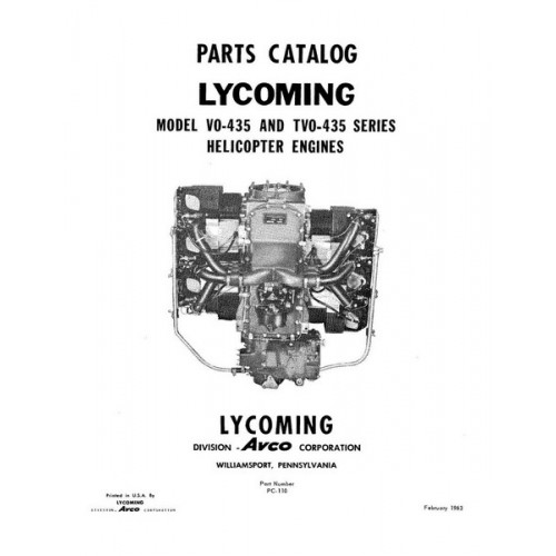 Lycoming Helicopter Engine Parts Catalog PC-110