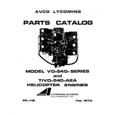 Lycoming VO-540 Series and TIVO-540-A2A Helicopter Engines PC-118 Parts Manual
