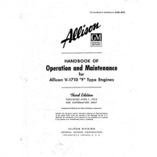 Allison V-1710 F Type Engines Handbook of Operation and Maintenance 1943