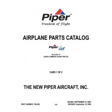 Piper 6X PA-32-301 FT 766-856 Airplane Parts Catalog 2003 thru 2006
