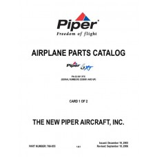 Piper 6XT PA-32-301 XTC 766-855 Airplane Parts Catalog 2003 thru 2006