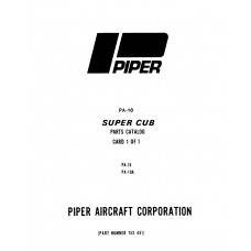 Piper Super Cub 752-451 Parts Manual 1975 thru 1982