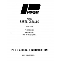 Piper Aztec PA-23-250 (Six Place) 753-522 Parts Catalog 1972 thru 1984