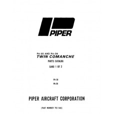 Piper Twin Comanche PA-30 and PA-39 753-646 Parts Manual 1973 thru 1982