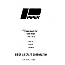 Piper Cherokee PA-32 753-689 Parts Catalog Manual 1975 thru 1980