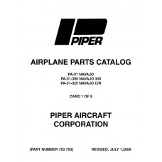 Piper Navajo PA-31 753-703 Parts Catalog Manual 1974 thru 2006