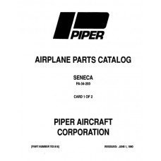 Piper Seneca PA-34-200 753-816 Parts Catalog Manual 1990