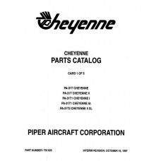 Piper Cheyenne II PA-31T 753-825 Parts Catalog 1978 thru 1997