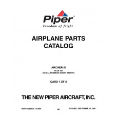 Piper Archer III PA-28-181 761-898 Airplane Parts Catalog 2006