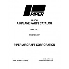 Piper Arrow PA-28R-201, 201T 761-638 Parts Catalog 1976 thru 1995