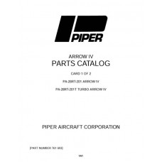 Piper Arrow IV PA-28RT-201 761-693 Parts Catalog 1978 thru 1984