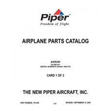 Piper Arrow PA-28R-201 761-894 Airplane Parts Catalog 2006