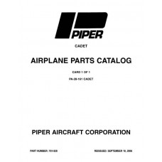 Piper Cadet PA-28-161 761-828 Airplane Parts Catalog 1989 thru 2006