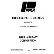 Piper Cheyenne 400 PA-42-1000 761-792 Airplane Parts Catalog 1984 thru 1989