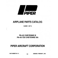Piper Cheyenne III PA-42 761-717 Parts Catalog 1991