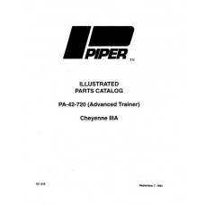 Piper Cheyenne IIIA PA-42-720 Advanced Trainer 761-818 Parts Catalog 1989 thru 1993