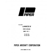 Piper Lance II PA-32RT-300, 300T 761-640 Parts Catalog 1977 thru 1983