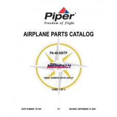 Piper Malibu Meridian PA-46-500TP Airplane 767-004 Parts Catalog 2006
