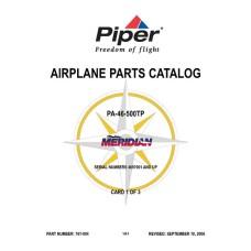 Piper Malibu Meridian PA-46-500TP Airplane 767-004 Parts Catalog 2006