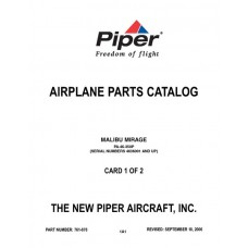 Piper Malibu Mirage PA-46-350P 761-878 Airplane Parts Catalog 2006