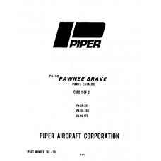 Piper Pawnee Brave PA-36-285 761-470 Parts Catalog 1976 thru 1982