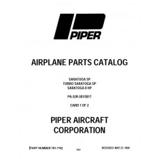 Piper Saratoga II HP PA-32R-301/301T 761-718 Parts Catalog 1979 thru 1993