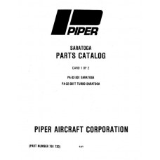 Piper Turbo Saratoga PA-32-301T 761-720 Parts Catalog 1979 thru 1984